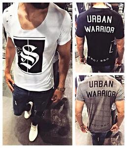 T Design Destroyed Style Herren Swag Shirt Warrior Urban Oversize PRSa6WqS
