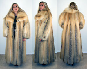 Brand-New-Golden-Island-Fox-Fur-Coat-Size-2-Extra-Large-2XL-16-18-Efurs4less