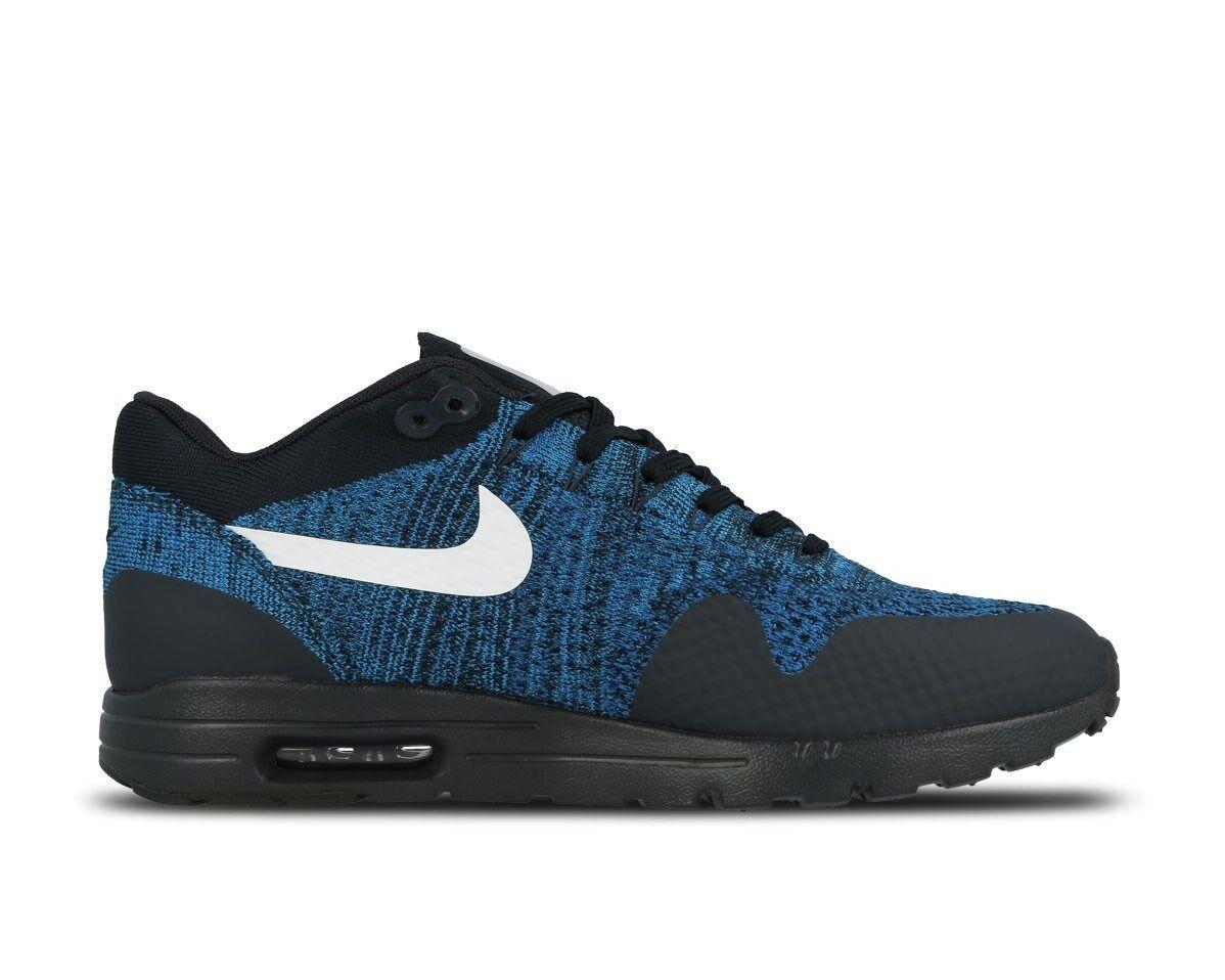 best sneakers 85fb9 1e19a Damen Nike Air 1 Max 1 Air Ultra Flyknit Laufschuhe Blau 843387 401 f8d8ca