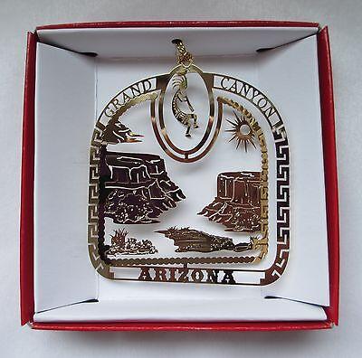 Grand Canyon Brass Ornament Arizona Kokopelli