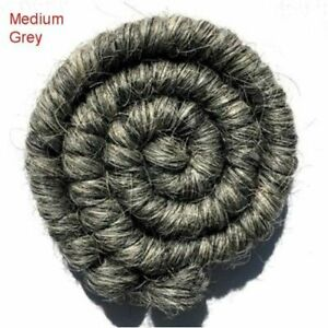 "Twice As Nice Designs /""Wool Wave/"" Doll Hair 100/% Wool Light Grey"