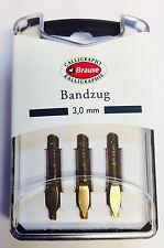 BRAUSE CALLIGRAPHY NIBS - BANDZUG 3.0mm - PACK OF 3 CALLIGRAPHY NIBS. (318030B)