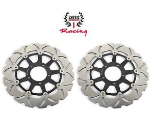 Front-Brake-Disc-Rotors-For-Ducati-Hypermotard-796-1100-EVO-SP-Wave-Rotors