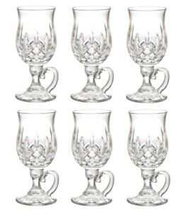 f6ed2faf3fc Details about Waterford Lismore Irish Coffee Glass 8-Ounce SET OF SIX