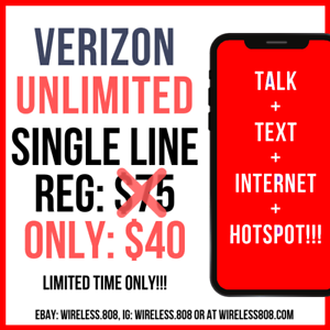 Details about ⭐ Verizon Wireless ⭐ UNLIMITED Plan Service 4G LTE Data Sim  Card & HotSpot FREE!