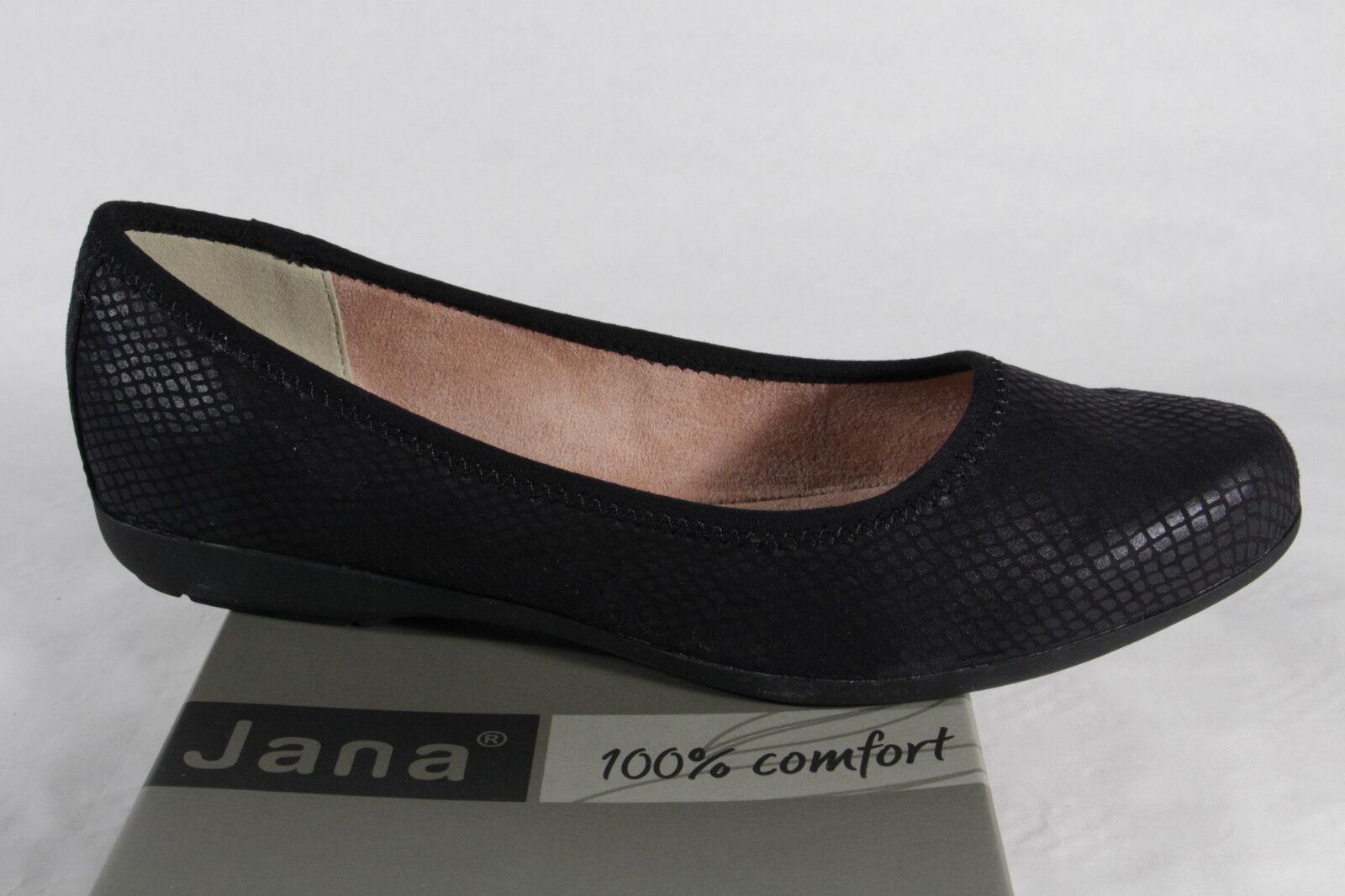 Descuento de la marca Descuento por tiempo limitado JANA Zapatillas Mujer Bailarinas negras NUEVA