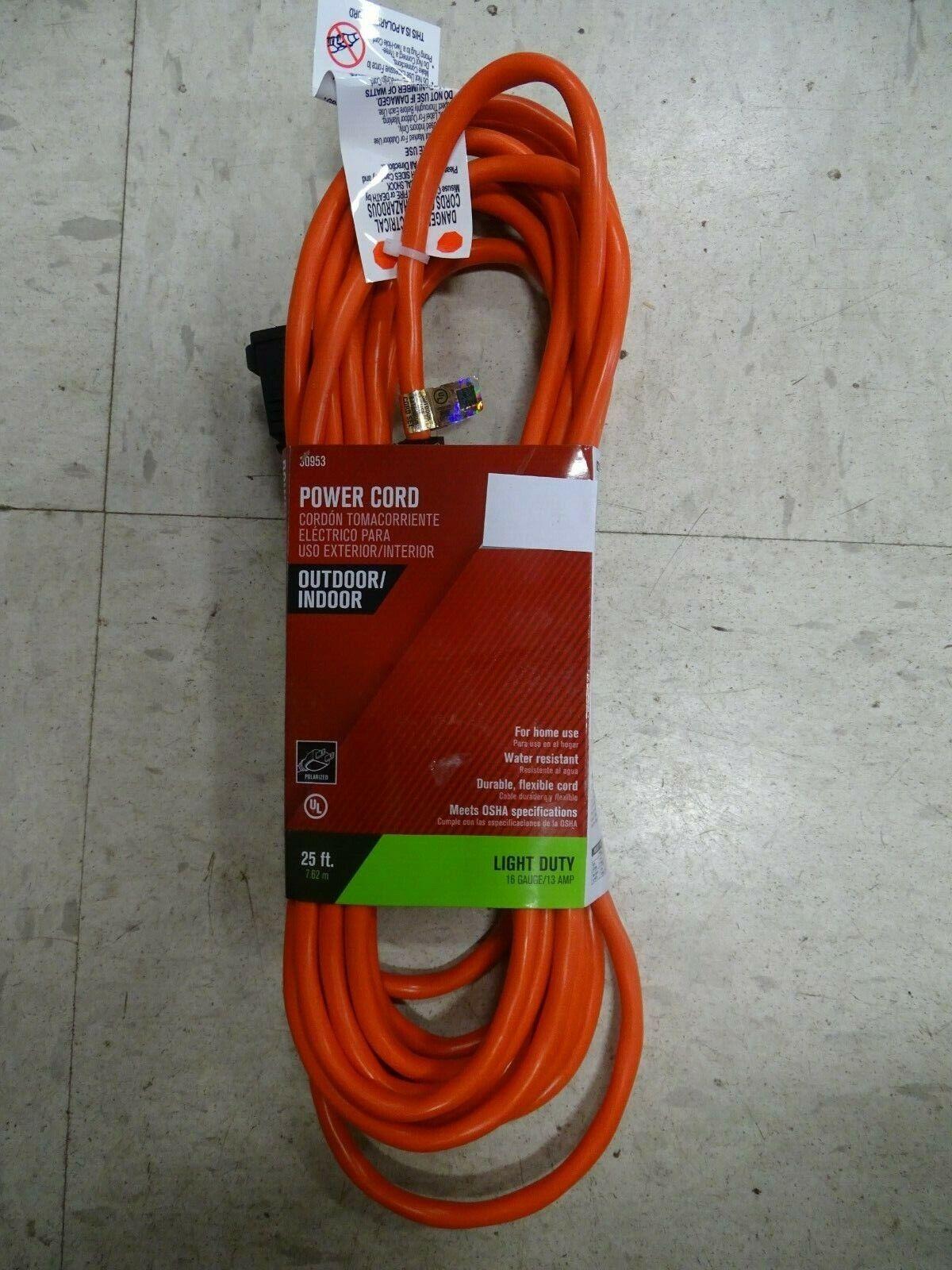 100-Feet 22098803 Orange Coleman Cable 02209 16//2 Vinyl Outdoor Extension Cord