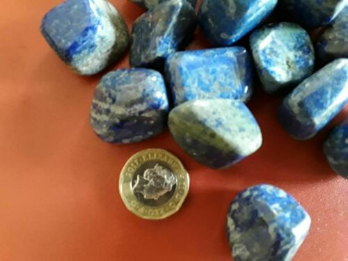 Lapis Lazuli Tumblestone brings friendship /&harmony into your life 30mm A Grade