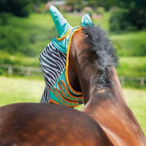 Zebra Shires Fine Mesh ZEB-TEK Flymask with Ears and Nose