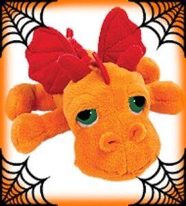 Suki-14313-Dragon-Blaze-Orange-Moyen-33-cm-Animaux-en-Peluche-Mirettes-Li-L-de