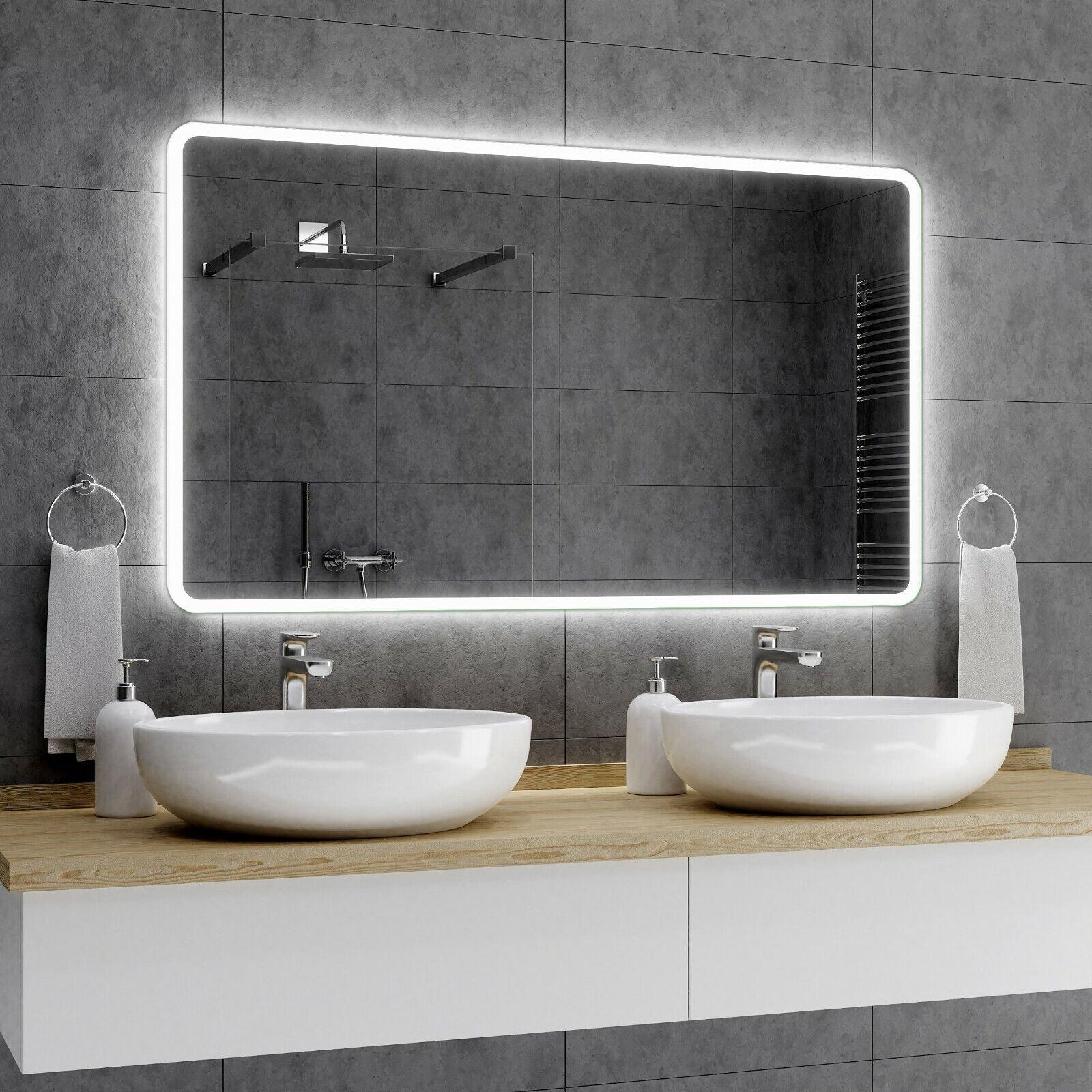 OSAKA Badezimmerspiegel Led Badspiegel Lichtspiegel Wandspiegel spiegel Maß A01
