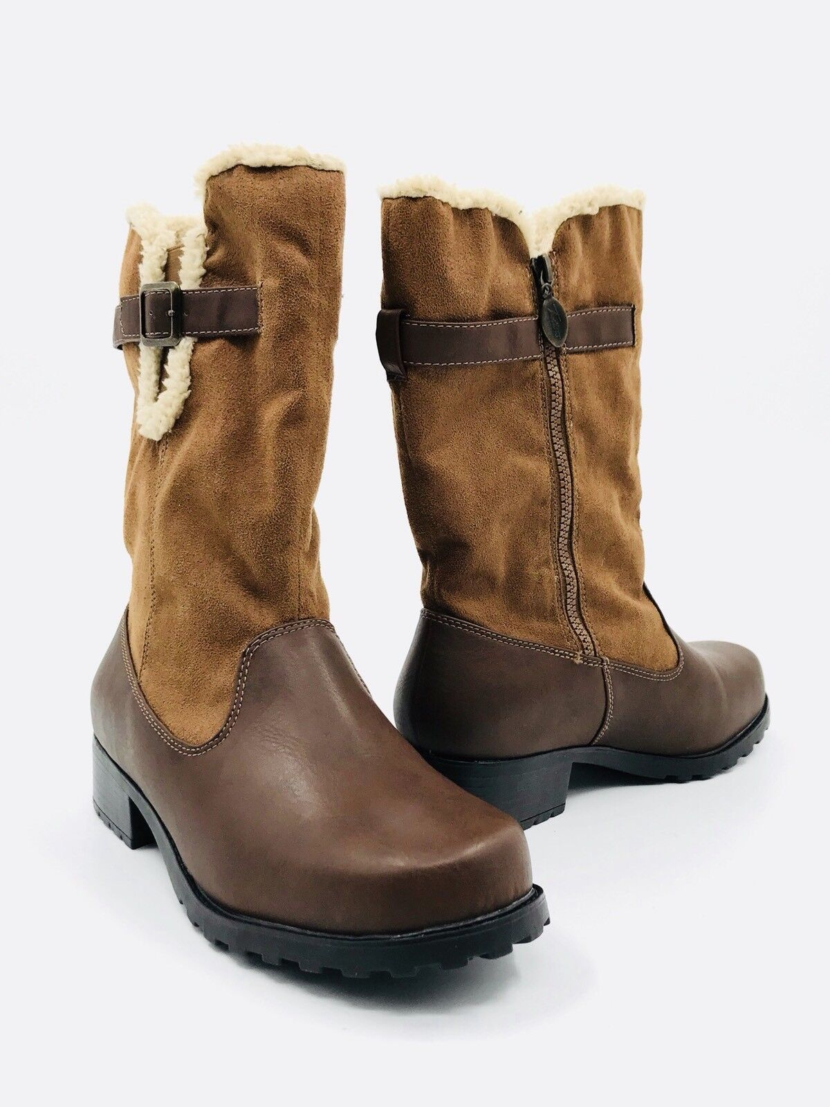 Tredters Blizzard III Faux Shearling Brown Boot Women's Size 8.5