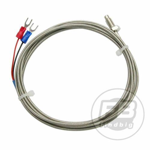 2pcs K Type M6 Screw Probe Thermocouple TemperatureSensor with 2M Cable