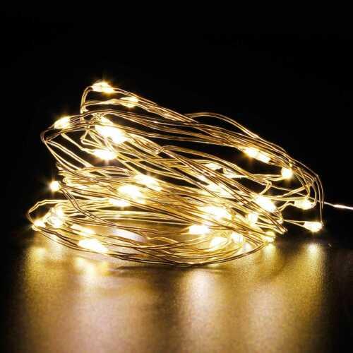 LED Drahtlichterkette DIY Lichterkette 1-10x 20//40//100er Innen/&Außen Warmweiß