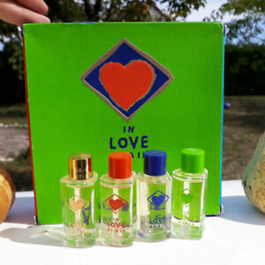 miniature parfum coffret tres rare YSL in love again 10ml*4 vintage