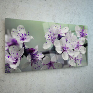 ANY-SIZE-Wall-Art-Glass-Print-Canvas-Picture-Large-Spring-Tree-Flowers-p132474