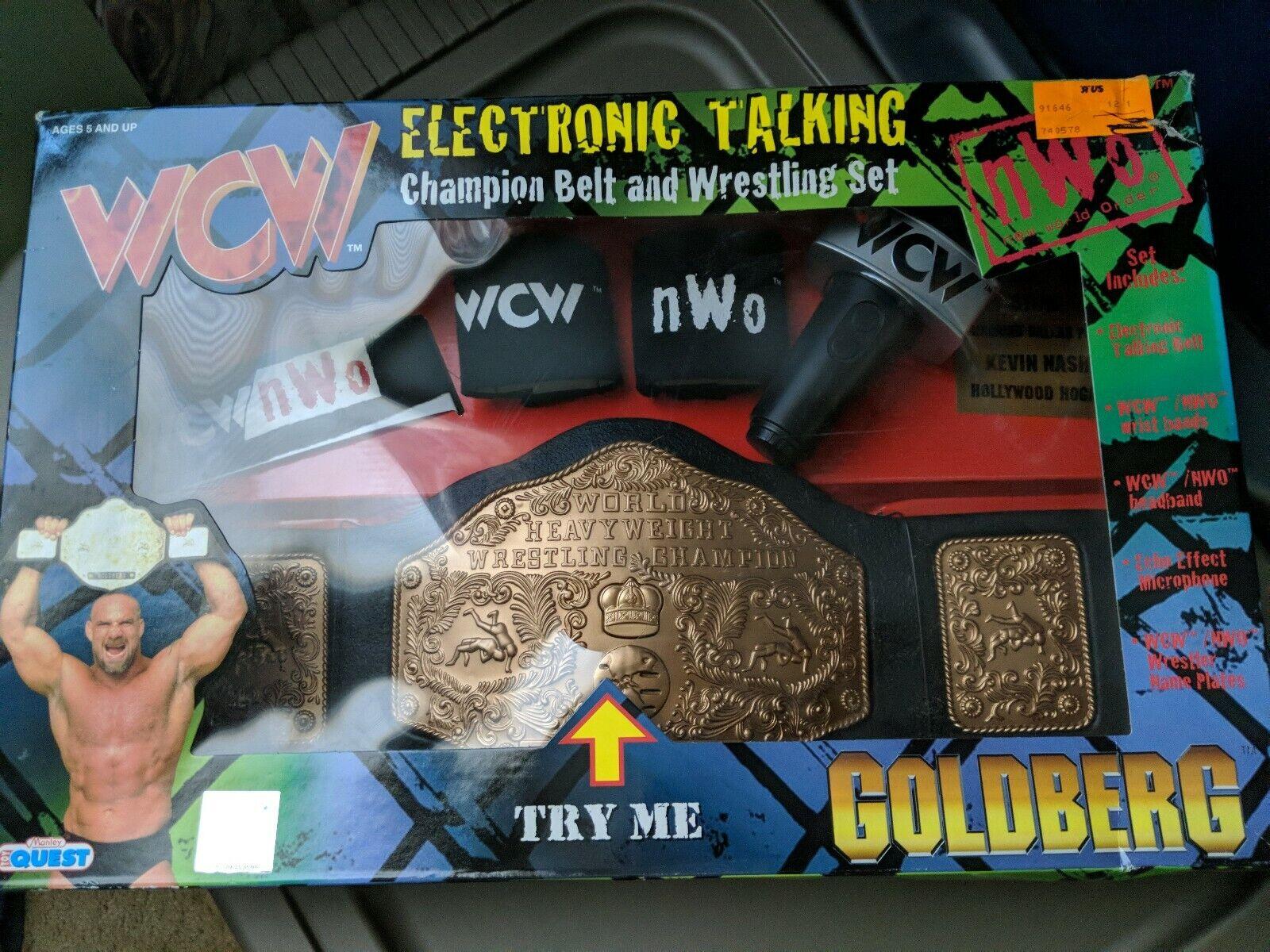 New New New WCW goldberg Electronic Talking HeavyWeight Wrestling Champion Belt 1998 8a1b04