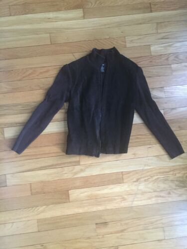 Mossimo Suede Leather And Ribbed Sweater Moto Jack