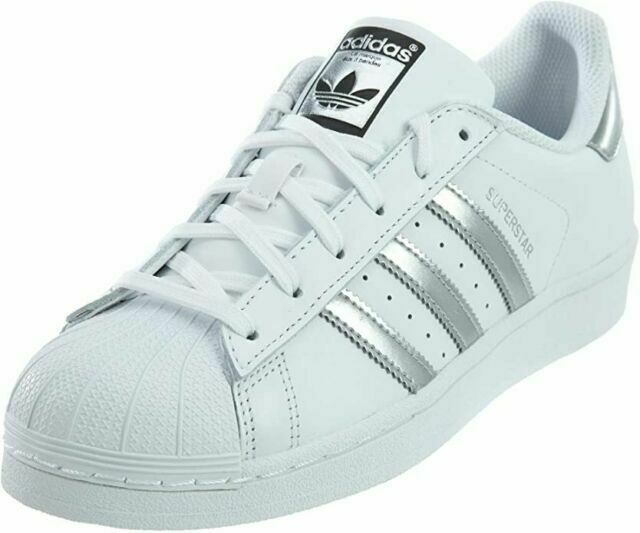 Size 7.5 - adidas Superstar White Silver Metallic for sale online ...
