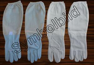 Imkerhandschuhe Ziegenleder Baumwolle Größe M/8 Bienen Imkerei Schutzhandschuhe