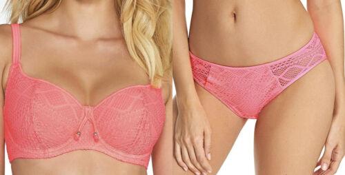 Freya Bikini Set Sundance Top Brief Padded Sweetheart Bra Pink Hipster Bottom