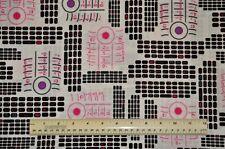 1/2 yd cotton quilt fabric Back Talk Benartex cell phone text message telephone