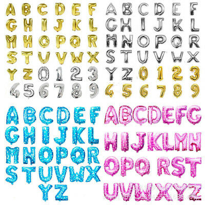 16 inch Rose Gold A-Z Alphabet Letters and 0-9 Numbers Foil Party Balloons