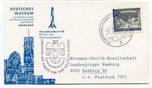 1964 Deutschen Musuem Munchen Versuchsreihe Tr10 Geflogen Rakete Hannover Space Les Produits Sont Disponibles Sans Restriction