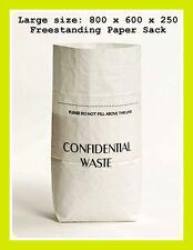 Confidential Documents Paper Waste Shredding Sacks / Office Shredder Pack Of 10