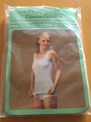 Damen-garnitur (hemd U. Slip) Gr. 42/44 100 % Bw Us 70 Jahren