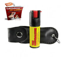 Police Strength Protection Red Pepper Spray Mace W/ Keychain Self Defense Guide