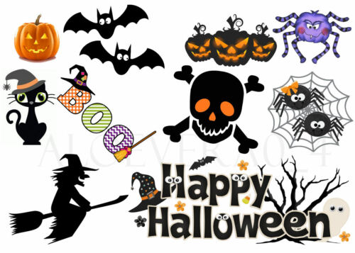 HALLOWEEN IRON ON TRANSFERS FOR CREATING COSTUMES TRICK OR TREAT BAGS T SHIRTS