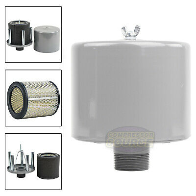 Air Compressor Intake Filter 1//2 NPT ALL Metal HOUSING WITH NEW FILTER