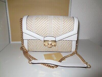 Michael Kors MK KINSLEY MD FLAP Tasche White Weiß Schultertasche Handtasche neu | eBay