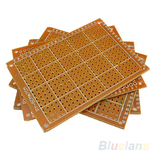 EG/_ 10pcs Solder Finished Prototype PCB For 5x7cm Circuit Board Breadboard DIY G