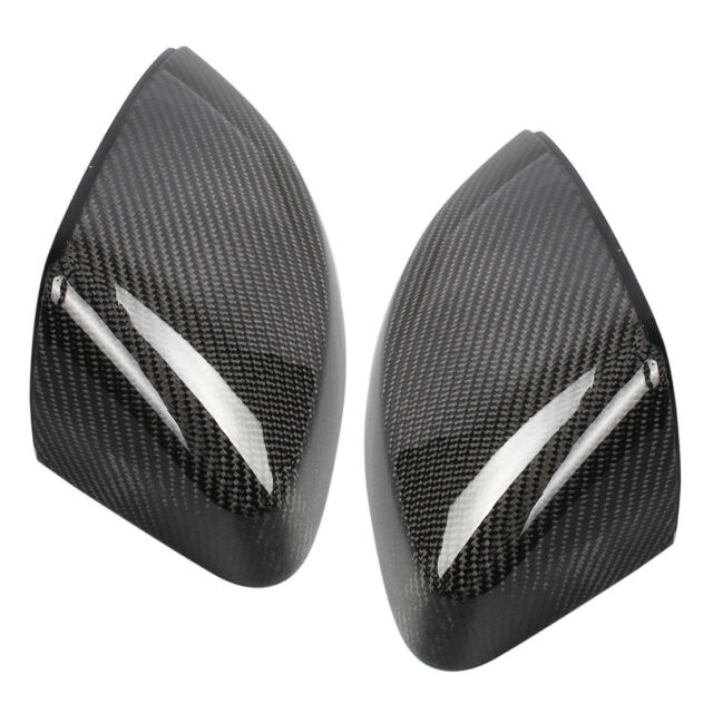 Pair Left Right Carbon Fiber Wing Door Rearview Mirror Cover For Audi A3 S3 RS3