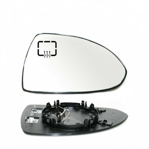 Right Passenger Side Wing Mirror Glass Heated For Opel Chevrolet Corsa D 2006