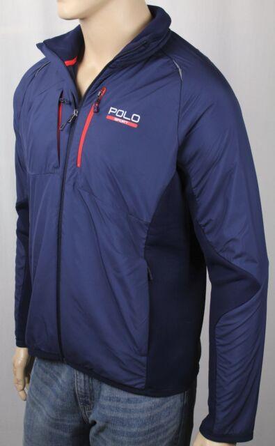 8e0e33d8 Ralph Lauren Sport Performance Navy Blue Hybrid Tech Full Zip Jacket NWT  $225