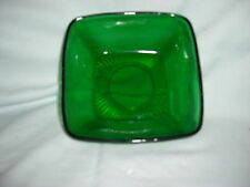 Vintage ANCHOR HOCKING Charm FOREST GREEN GLASS Dessert/Berry Bowl