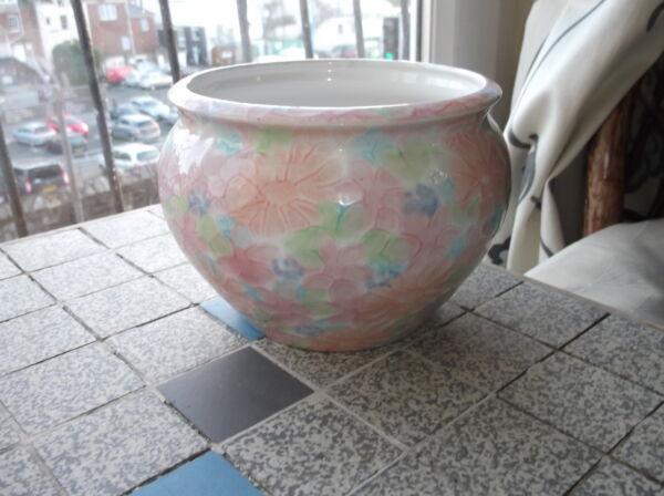 """Competente Molto Bello Park Rose Bridlington Rosa Blu Art Pottery Pot Vaso Fioriera 4.5"""" Elevato Standard Di Qualità E Igiene"""