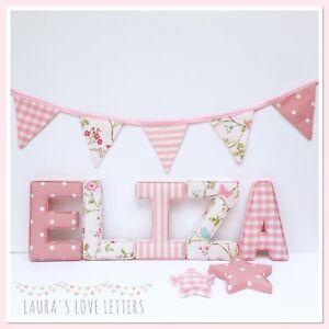Image Is Loading Fabric Letters Wall Art Handmade Padded Nursery Name