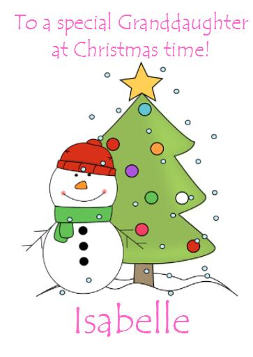 Christmas Card Greetings.Personalised Christmas Card Greetings Snowman Son Daughter Grandson Xmas