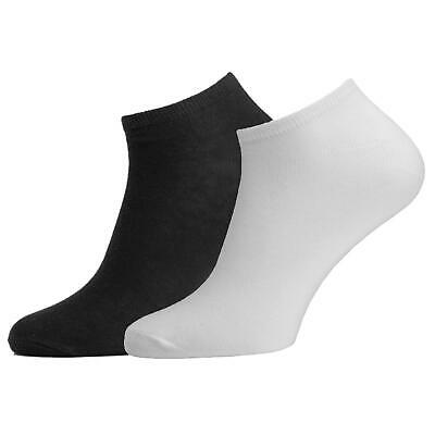 Sport Trainer Liner Ankle Socks Mens And Womens Black White 3 6 12 Pairs