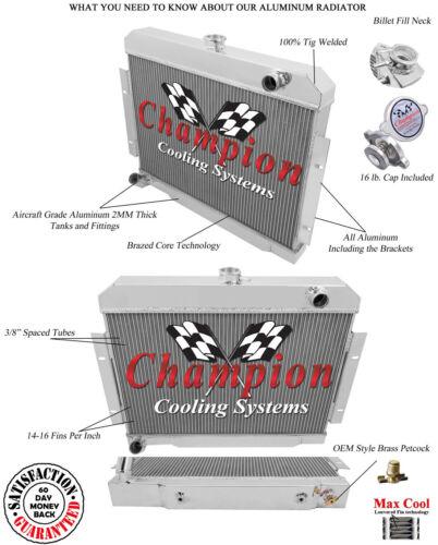 "2 Row 1/"" Discount Champion Radiator for 1970-1985 Jeep CJ Series"