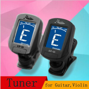 Black-Chromatic-LCD-Clip-On-Electric-Tuner-for-Bass-Guitar-Ukulele-and-Violin