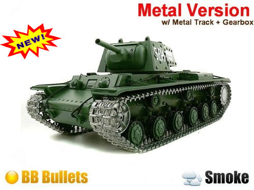 Radio control RC Tank RUSSIAN KV-1 - shooting + Smoking + sounding - Pro
