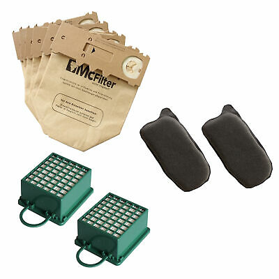 2pcs Coal Filters /& 2pcs Filters For Vorwerk Goblin VK 130 131 Vacuum Cleaner