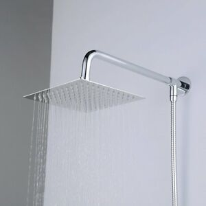 Image Is Loading Hiendure Wall Mount Rainfall Square Shower Head With