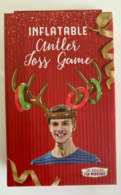 Inflatable Reindeer Antler Toss Game Christmas Holiday Party Favor Toy