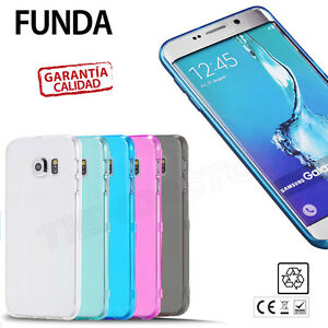 FUNDA CARCASA TRANSPARENTE ULTRAFINA TPU GEL SILICONA compatible Galaxy S6 EDGE